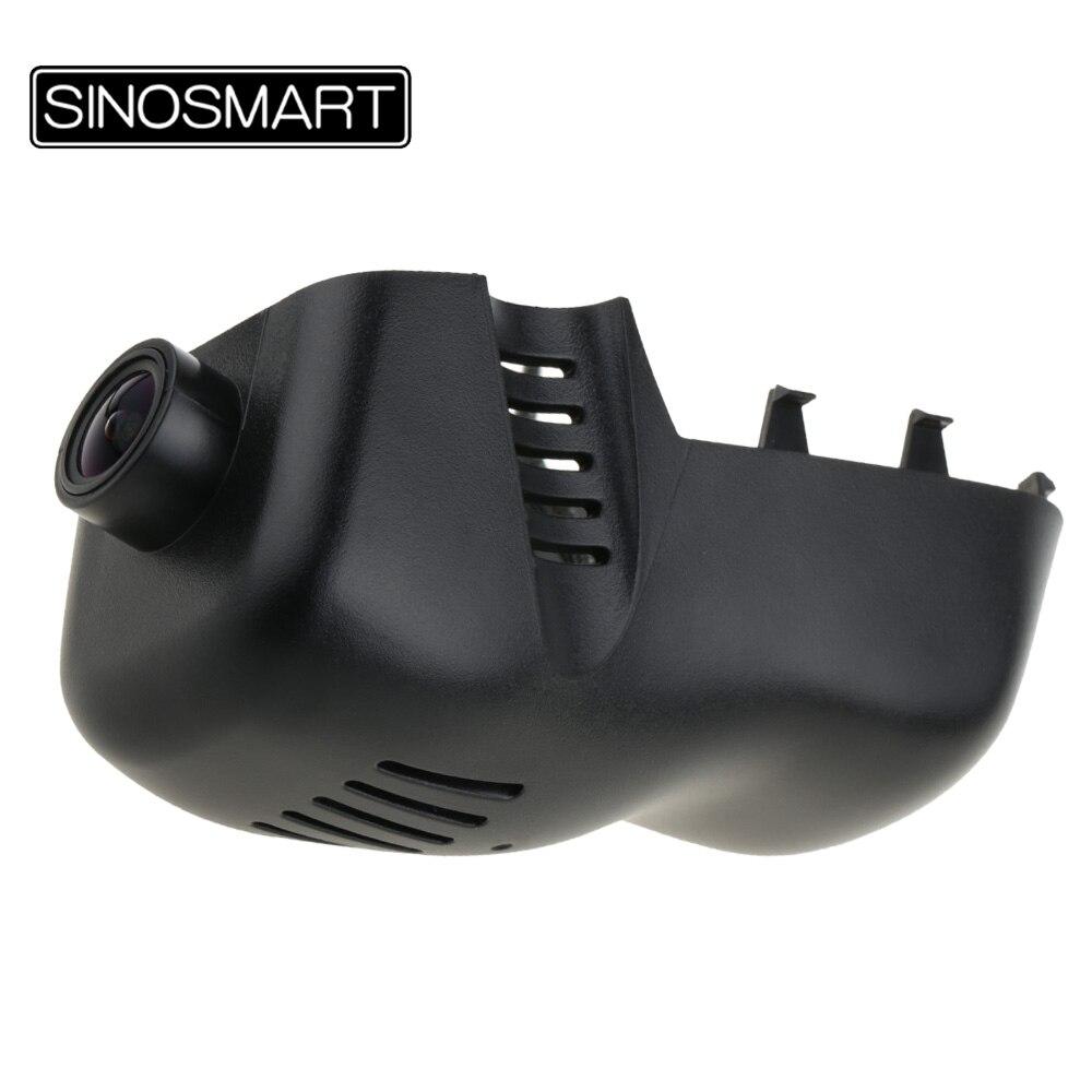 SINOSMART Novatek 96658 Car Wifi DVR Camera for Volkswagen Touareg 2011 2014 2016 Control by Mobile