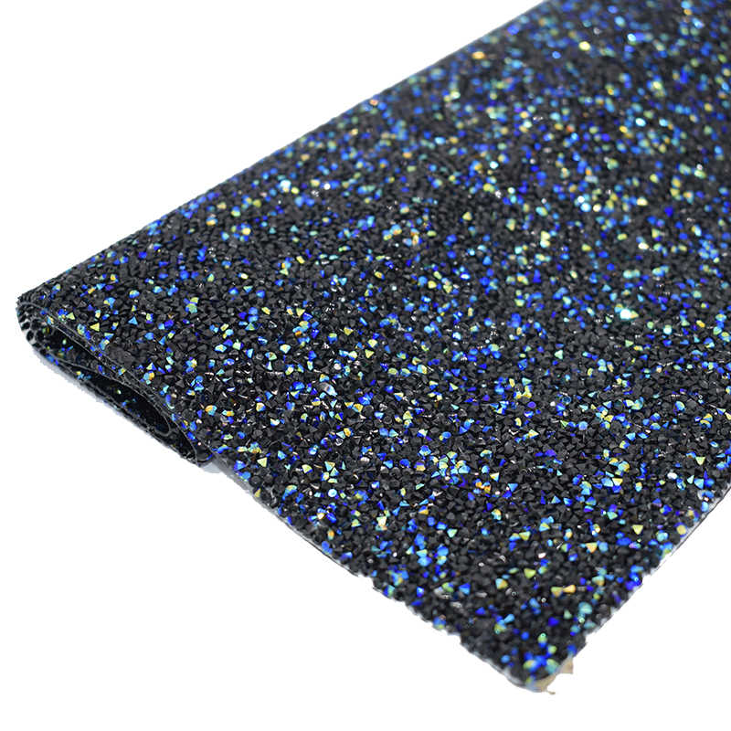 Starry Sky Black Laser Color strass hotfix Resin crystals Rhinestone Sheet Trim  Self Adhesive cyrkonie strass bc02ac8c0b3c