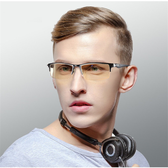 7b49d209dc Vazrobe Computer Glasses Men Women Anti Blue Ray Light Radiation Tint  Yellow Lens Eyeglasses for Computer Blocking Blue Light