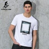 Pioneer Camp hombres camiseta marca de ropa 2017 verano nueva moda geometría diseño mens camiseta de impresión floja Camisetas Hombre