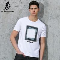 Pioneer Camp Free Shipping 2016 Summer New Fashion Mens T Shirt Shorts Sportswear Cotton Loose Print
