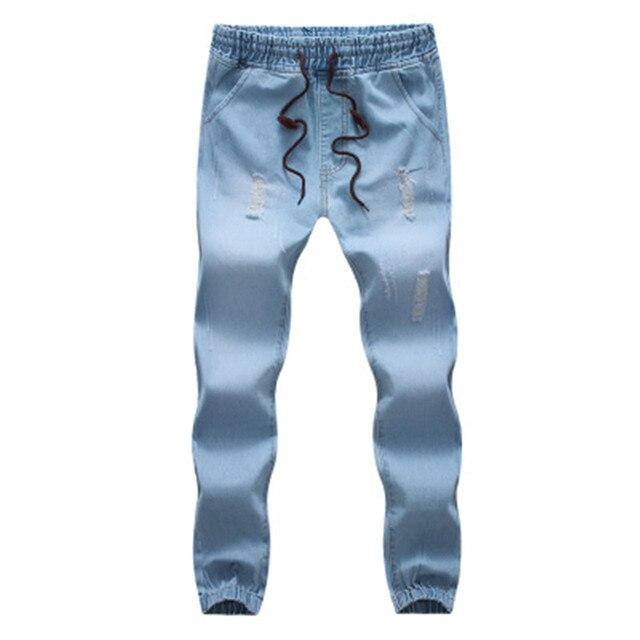N 2017 de Mezclilla Hombres Pantalones Vaqueros Para Hombre pantalones hasta el Tobillo Ocasional Recto Loose Fit Pantalones Harlan pies vaqueros M-5XL