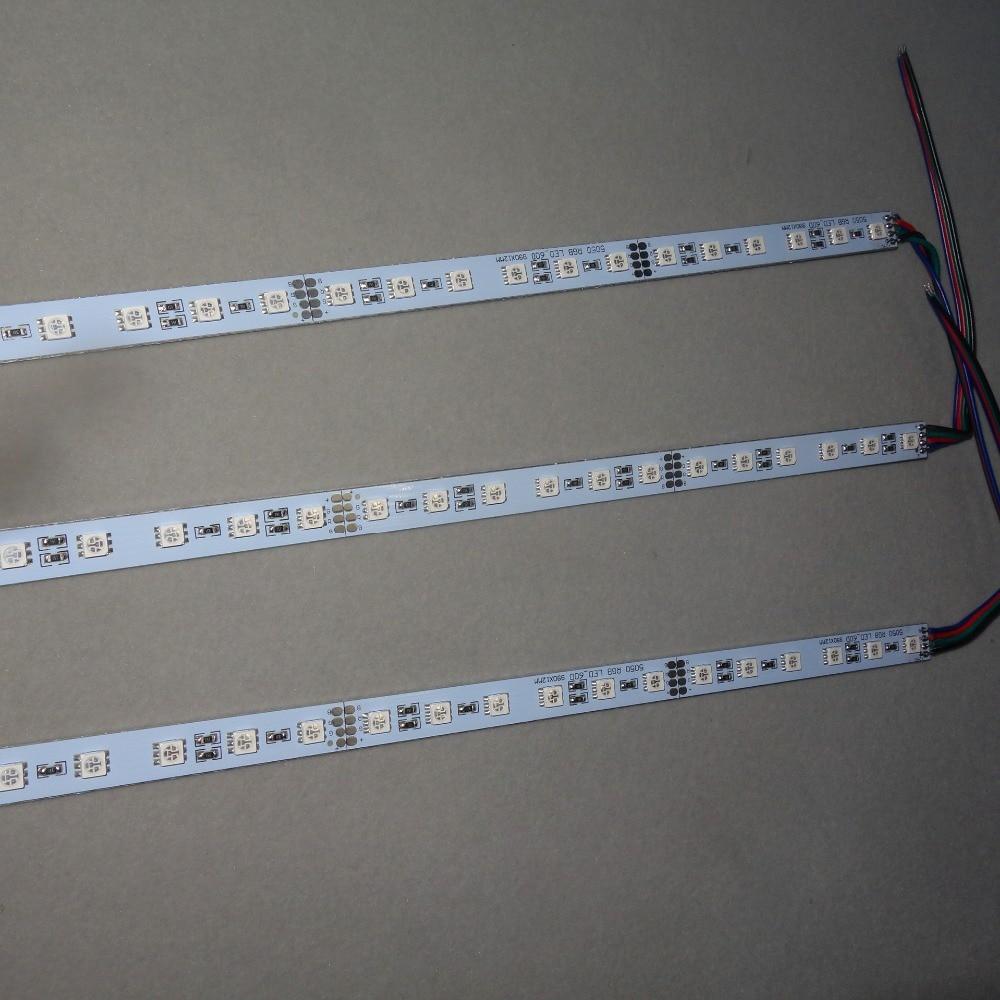 DC24V 1m long aluminum Led RGB color Rigid Strip;60leds,14.4W