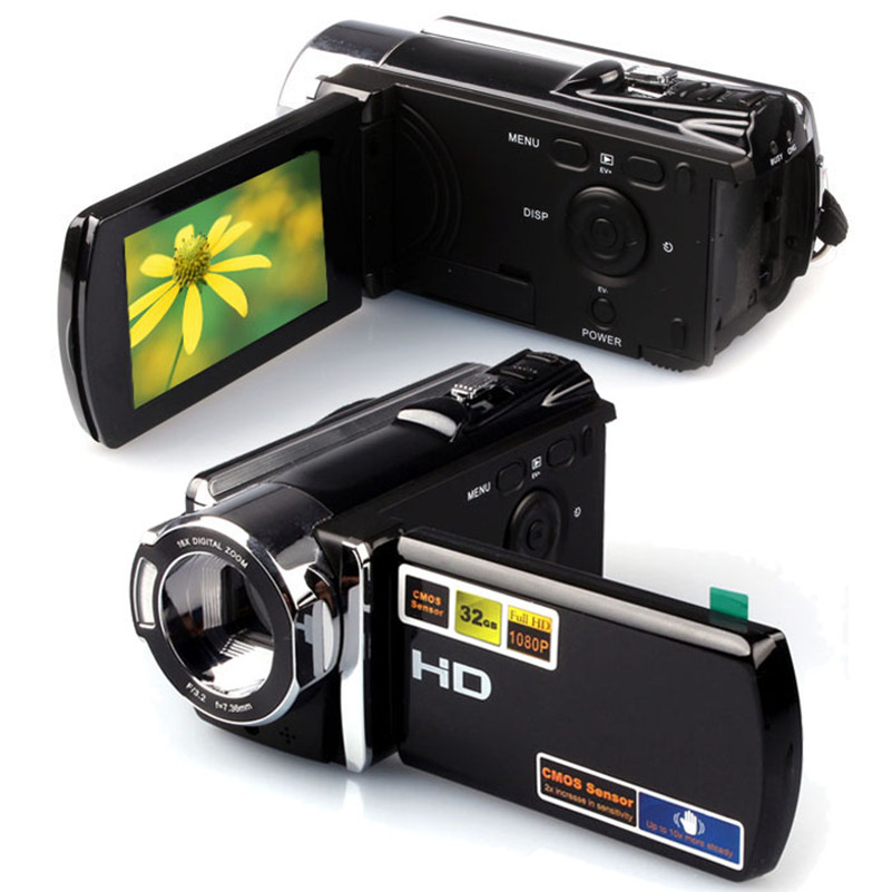 1080P Digital Video Camcorder Full HD 16 MP 16x Digital Zoom DV Camera Kit freeshipping hd digital video camera max 12mp 3 inch with 16x digital zoom video camera mini camera digital camcorder