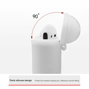 Image 4 - Противоударный чехол для airpods, чехол для наушников, ТПУ силиконовый защитный чехол для беспроводных Bluetooth наушников apple airpods, чехол