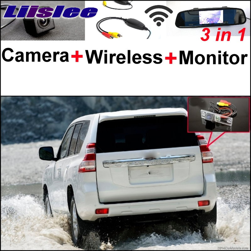 Liislee For TOYOTA Land Cruiser Prado J150 3 in1 Special Rear View Camera Wireless Receiver Mirror Monitor Easy Parking System brake master cylinder assembly for toyota 4runner land cruiser prado 47028 60010