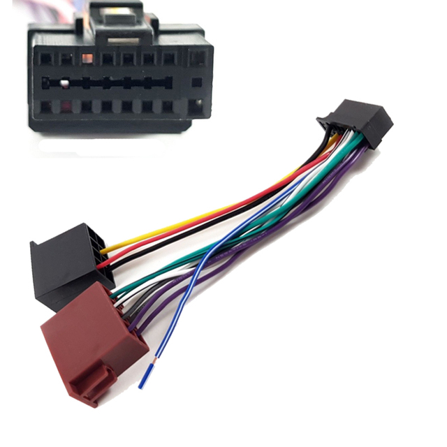 iso head unit wiring harness adaptor stereo for alpine 16 pin cda-7876rb  cda-