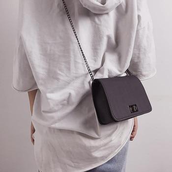 93f8e4388 Nueva moda, bolsas de mensajero para mujeres, lindo salvaje versión coreana  de hombro pequeño cuadrado bolsa tendencia Mini Bolso de Bandolera Mujer GH