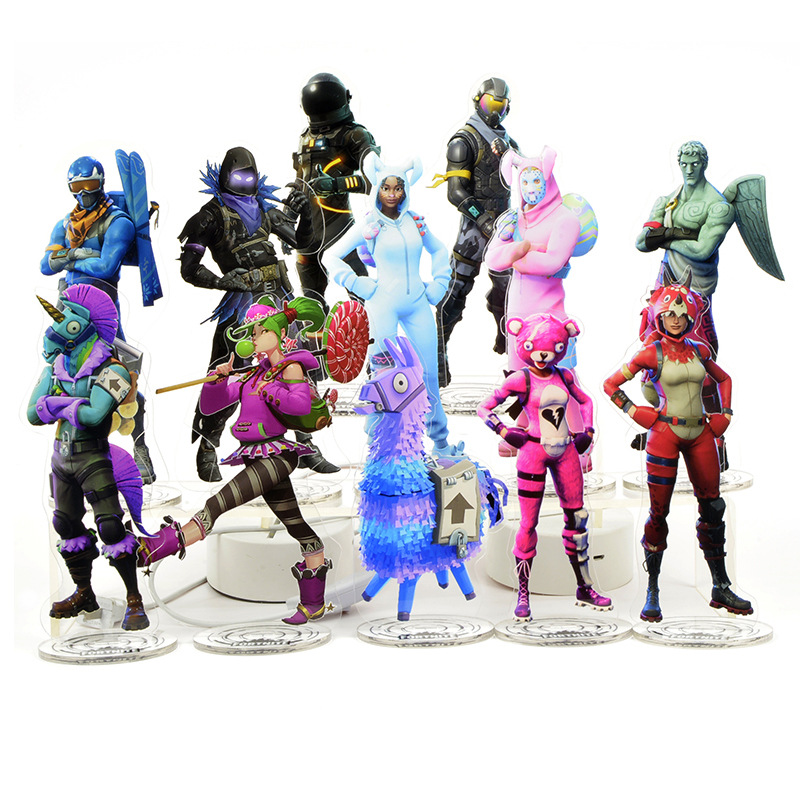 Fortress Night Fortnite Game Around Acrylic Peoples Shaped Lizard Painting Collection Gifts Rainbow Horse Alpaca Treasure Chest