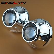 SINOLYN Araba Styling Lideri 2.5 Mini HID Bixenon Projektör Far Metal Lens Far Xenon Lensler Güçlendirme, Kullanım H1 Xenon ampuller