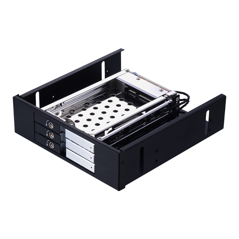Uneatop ST5534S 3-Bay 2.5 inch SATA HDD/SSD Mobile Rack Enclosure Silver Door mobile rack agestar sr3p sw 3f sata black