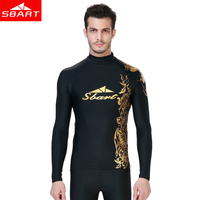 SBART Wetsuit Men Rash Guard Swimwear Wetsuits Men Surfing Swimsuit Wet Suit For Swimming Diving Suits Surf Long Sleeve Shirt