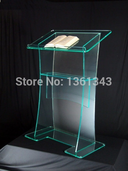 Clear acrylic podium clear acrylic furniture cheap Unique design hot sale and modern modern design acrylic Lectern podium