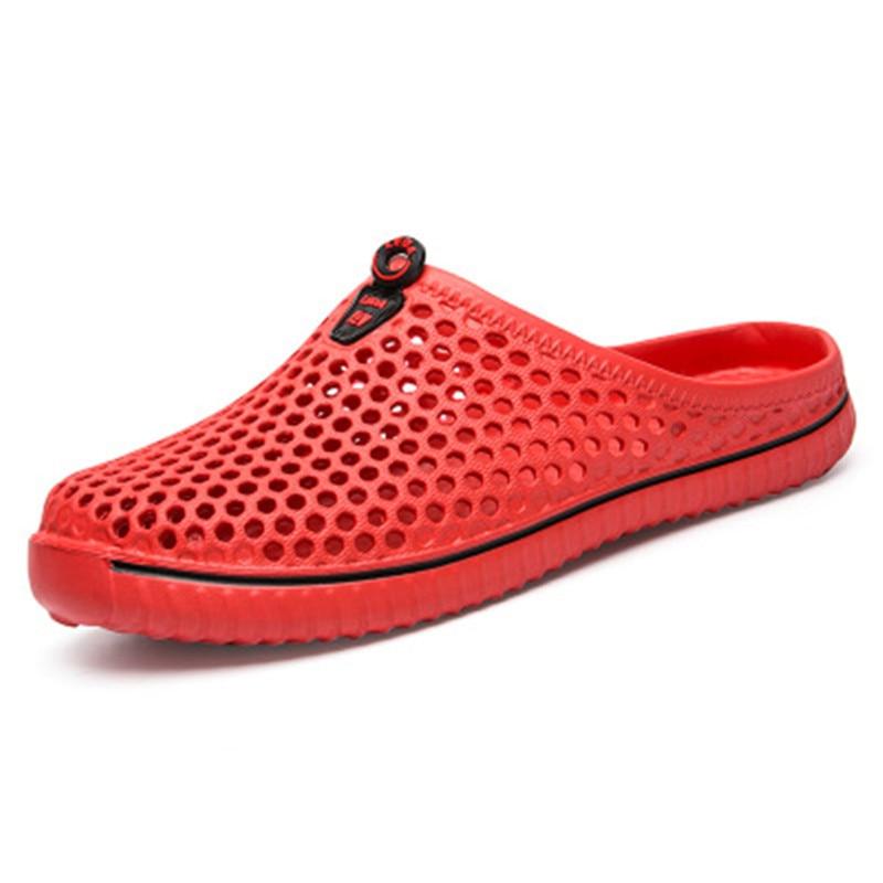 Hombres Zapatillas de Verano Zapatos 2017 Nuevo Ahueca Hacia Fuera - Zapatos de hombre - foto 4