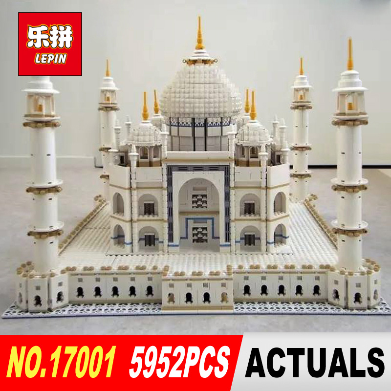 LEPIN 17001 5952pcs The taj mahal Model Building Kits Brick classic house Architecture Toys for children 10189 Gift the construction of taj mahal tourism 3d cubic life manual paper card card creative stereo