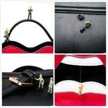 Sexy Red lips PU Leather Crossbody Bag