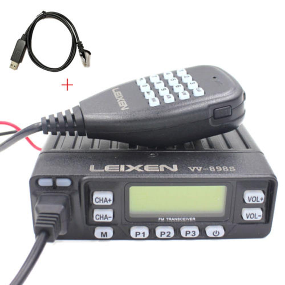 Car Radio VV 898S 25W LEIXEN Dual band 144 430MHz Mobile Transceive Amateur Ham Radio USB