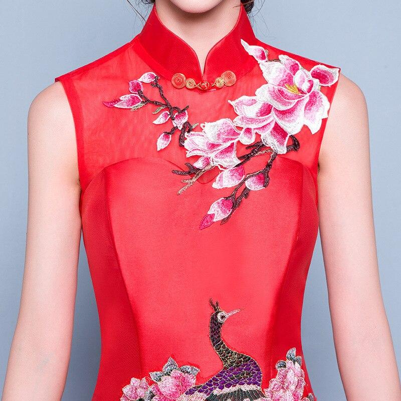 Asombroso Vestido De Novia Del Qipao Ideas Ornamento Elaboración ...