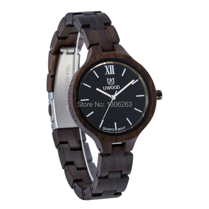 Hot Sell Women Dress Watch Unique Women Wooden Quartz Watch Bangle Natural Wood Watches Gifts For