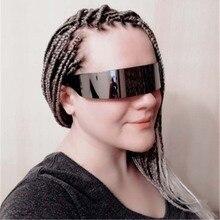 Funny Futuristic costume Sunglasses Mask Novelty alien Glasses futurist Party Favors Supplies Alien gafas futuristas
