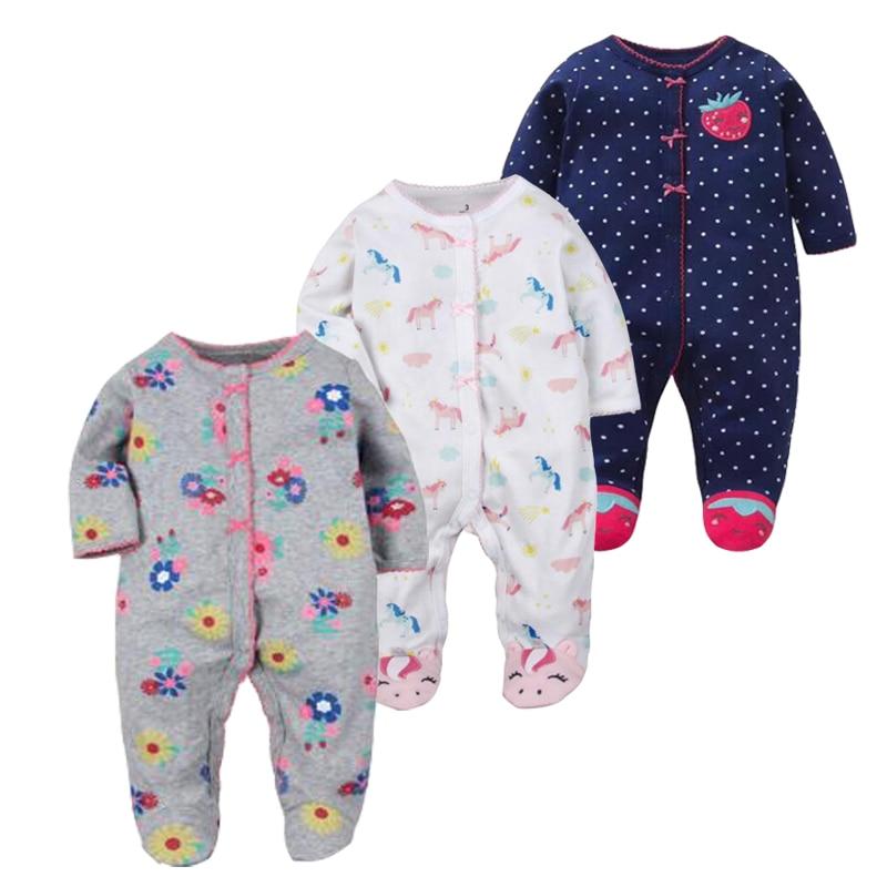 Otroška oblačila! 2019 Otroška oblačila za novorojenčke Novorojenček - 1 leto stara Ropa Baby Girl Romper 100% bombažni kostum Kombinezon