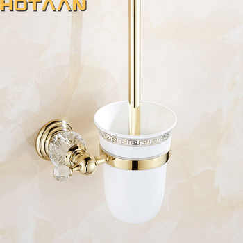 HOTAAN Free Shipping wall mounted Toilet Brush Holder,ceramic cup Construction Base ,gold color Bathroom accessories YT-12812 - DISCOUNT ITEM  10% OFF All Category