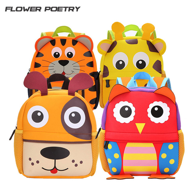 Children School Bag Cute Animal Design Backpack Toddler Kid School Bags Kindergarten Cartoon Bag Boy  Girl Mochila Infantil