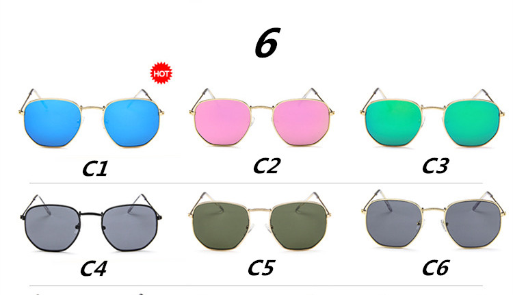 2018 New Polygonal Luxury Sunglasses Girl Ladymen Brand Quality Vintage Sunglasses Clear Sun Glasses Sexy Fashion Couple Eyewear Elegant And Graceful Apparel Accessories