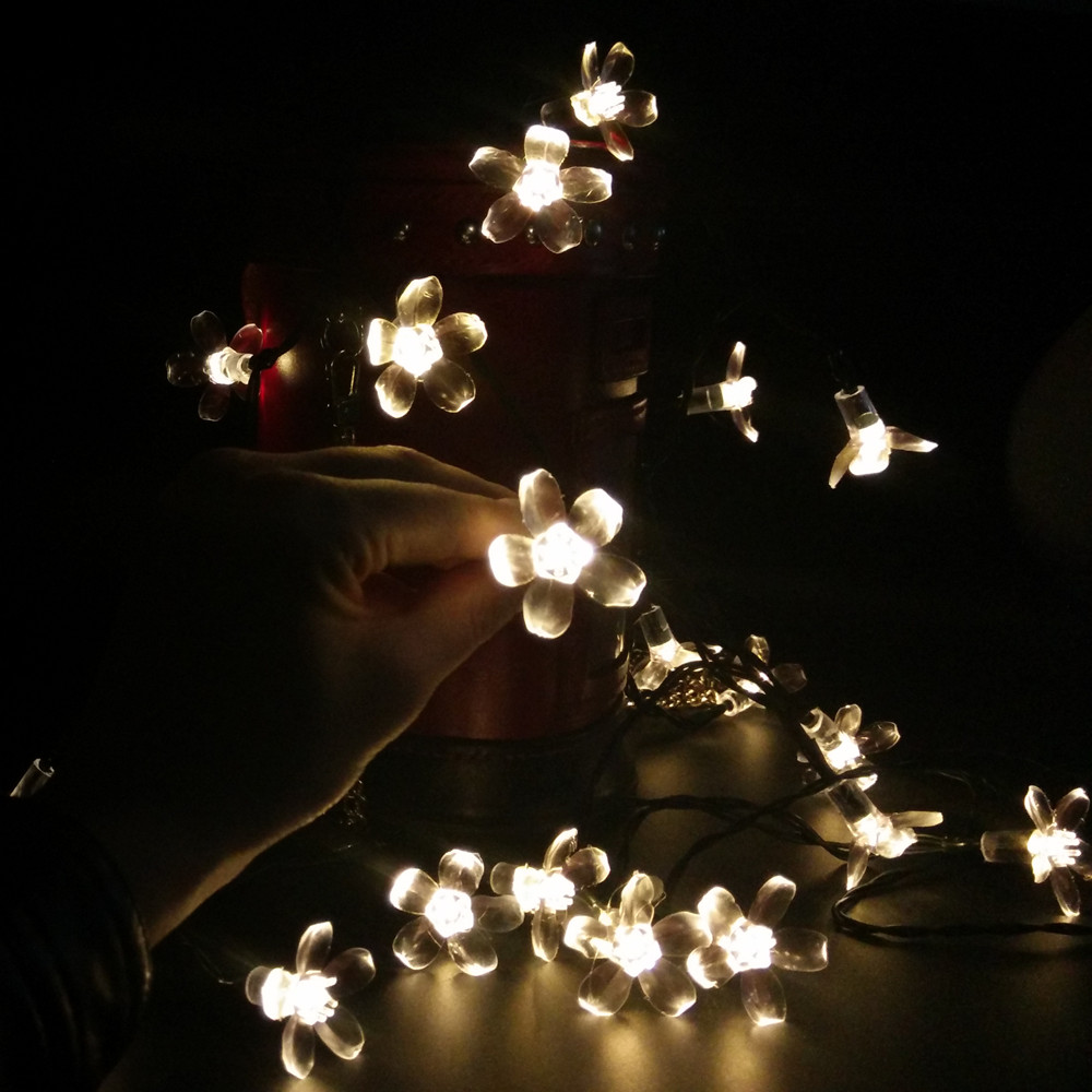 Cherry Pendant 22M 200 Leds solar string Lights Decoration For Christmas/Party Outdoor Garden La Luce solare.