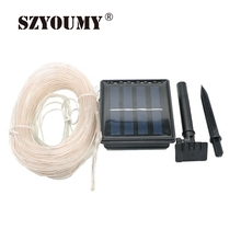 SZYOUMY Led Solar Strip Light Waterproof Soft Tube Copper Wire 12M 100 LEDS Flexible Outdoor Street Decoration Holiday Light
