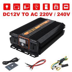Image 3 - KROAK Power Inverter Max 10000W DC 12 V to AC 220V 240 Volt Car Adapter Charge Converter Modified Sine Wave USB Transformer