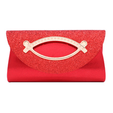 Women Evening Clutch Bag Diamond Sequin Clutch Female Crystal Day Clutch Wedding Purse Party Banquet Red Clutches pochette femme цена 2017