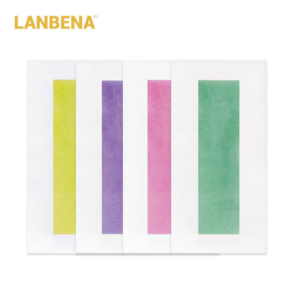 LANBENA 20 Pcs = 10 Yaprak Profesyonel Epilasyon Wax Şeritler Yüz Sakal Vücut Saç Çıkarıcı Krem Tutkal Küçük Çift