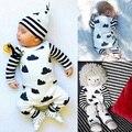 2016 new born roupa do bebê menino roupas de manga Longa bebê macacão roupas romper do bebê da menina da criança terno infantil roupas babys