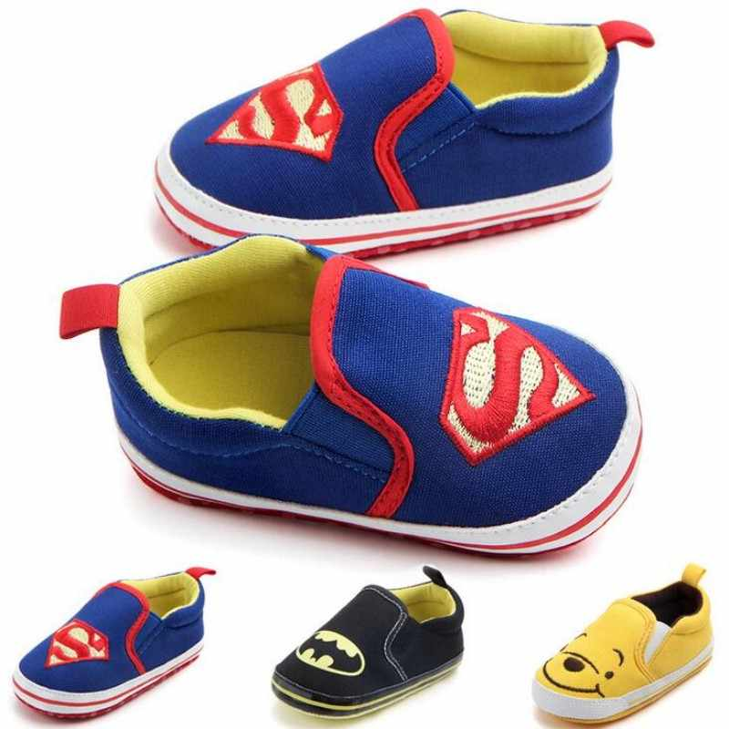 New Arrival Superman Loafers Baby Boys Girls Shoes Soft Sole No-slip First Walker Infant Toddler Kids Footwear Prewalkers