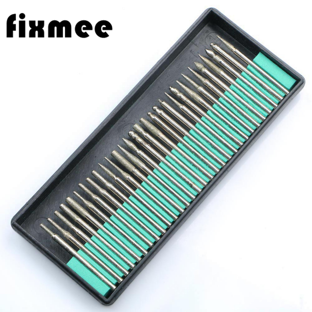 Diamond Nail Drill Bit For Polisher Polished Polishing Drills Rotary Burr For Dremel Router Glass Mini Micro Drills Bits Set