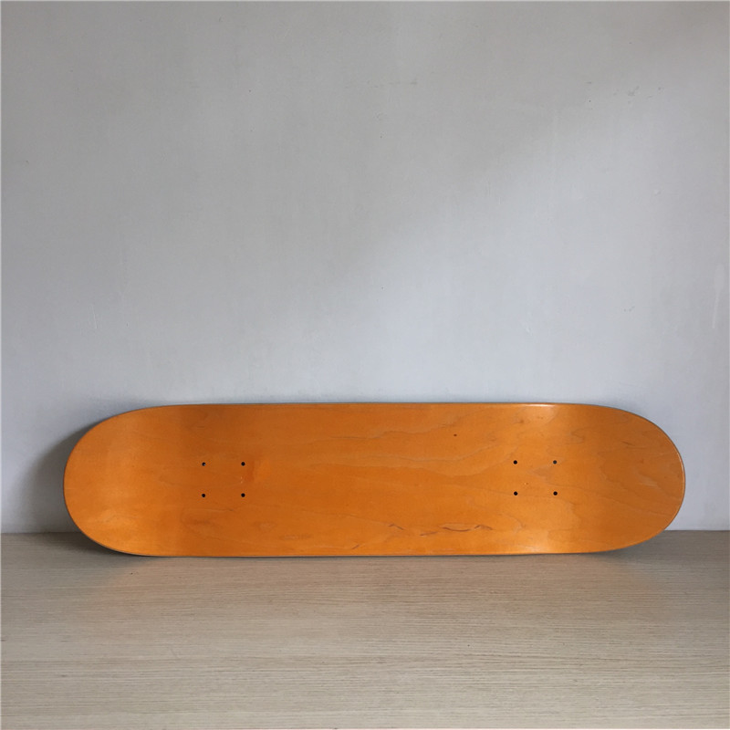 1PC 8inch Blank Skateboard Deck Orange/Black Colored 7 Layers Full Canadian Maple Skate Board Deck famous russian brand union board full canadian maple wooden deck skateboard 8 patins street 10types available