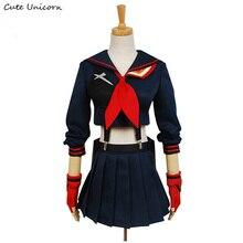 Симпатичные Единорог убить ла Matoi Косплэй костюм аниме одежда для вечеринки Хэллоуин платье для Для женщин Обувь для девочек индивидуальный заказ форма