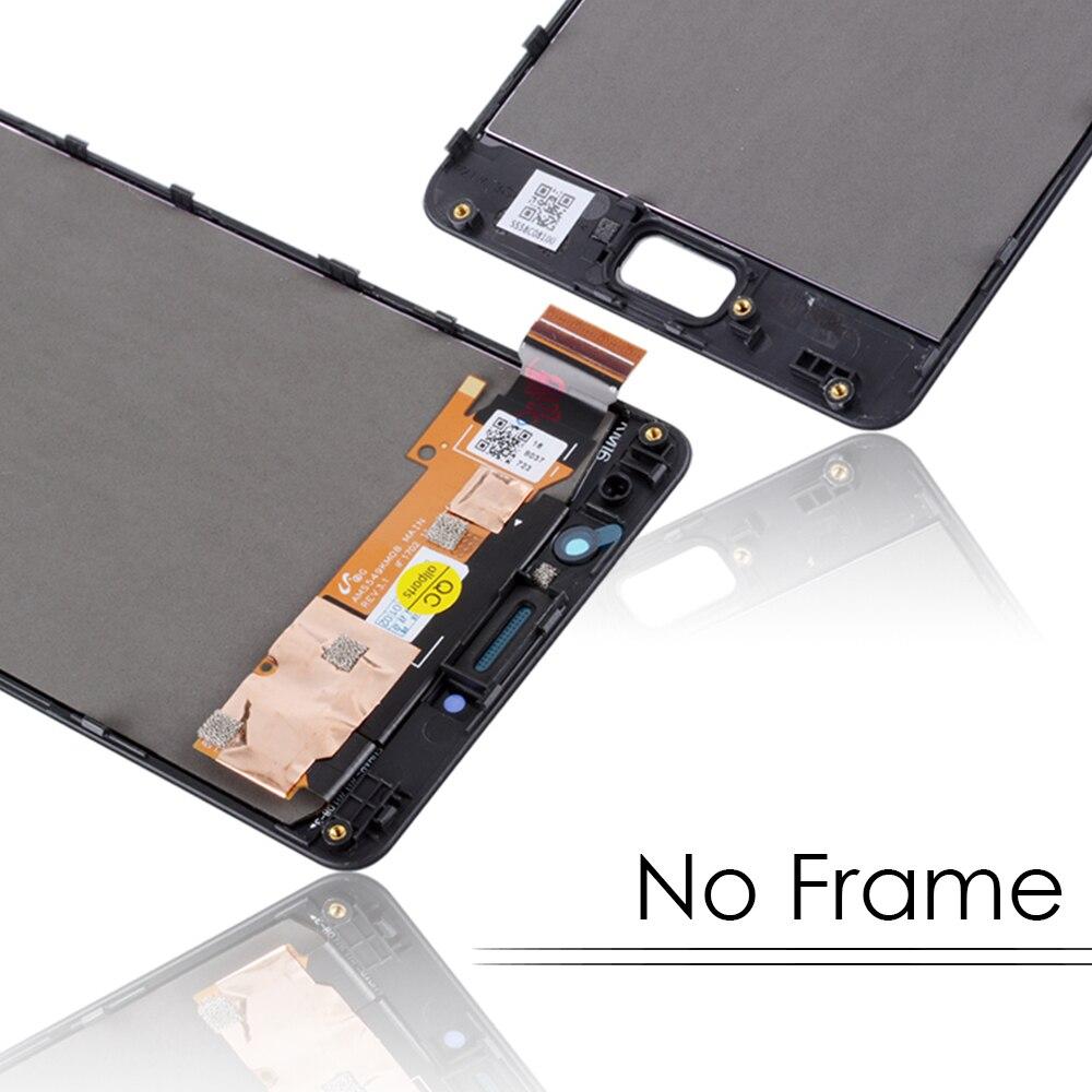 5.5 inch Zwart Goud Voor Lenovo Vibe P2 P2c72 P2a42 Lcd Touch Screen met Frame Display Vervanging Display Volledige monteren # - 4
