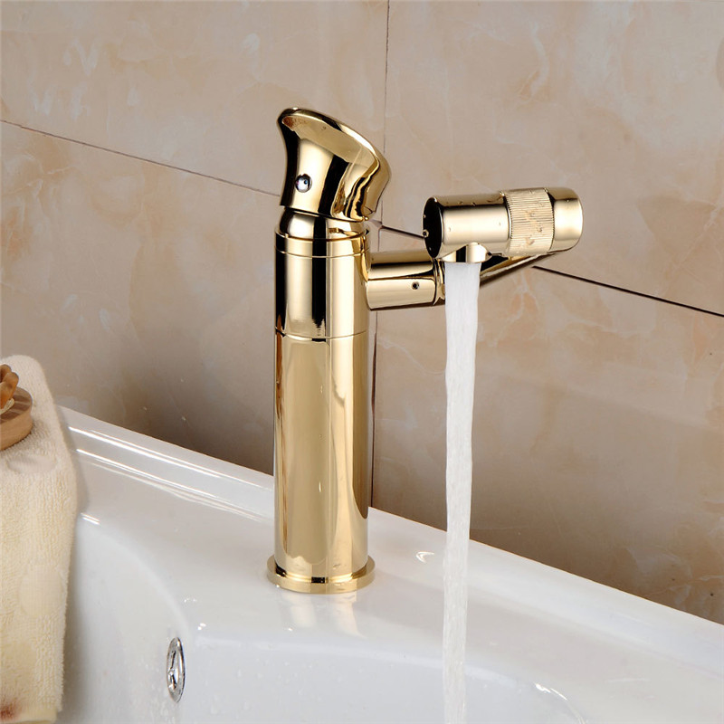 цена на Hot Sale all copper rose gold Finished Rotate basin faucet, Brass Single Lever Water Tap, Bathroom Sink Mixer Low Basin Faucet