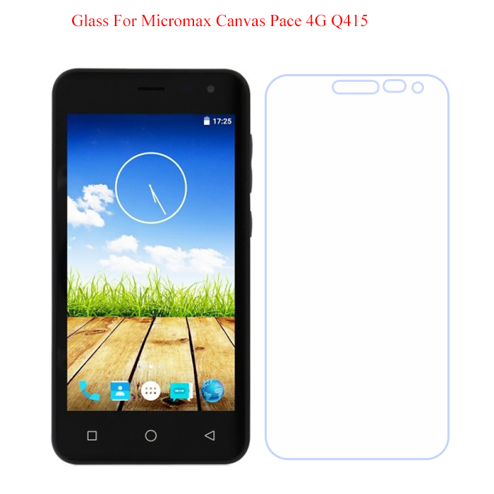 For Micromax Q415 Tempered Glass High Quality 9H Thin Front Screen Protector For Micromax Canvas Pace 4G Q415 Phone Films Cover