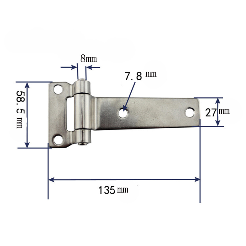 Image 5 - 135*58mm Durable Stainless Steel T Type Container Hinge Heavy Truck Vehicle Hinges Drop Shipping-in Marine Hardware from Automobiles & Motorcycles
