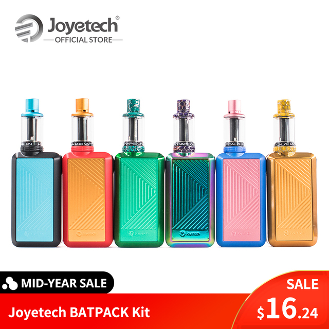 Warehouse Original Joyetech BATPACK Kit With Joye ECO D16 Atomizer 2.0ml Capacity in 0.5ohm BFHN MTL. Head E Cigarette