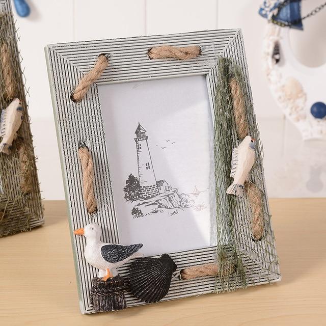 Zakka océano ellos creativo marco de fotos de madera DIY pantalla ...