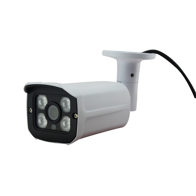 HJT 48VPOE Onvif 2.1 H.264 2MP HD 1080P IP Camera 4 Array LEDs Camera with IR-Cut 3.6mm Lens Security Outdoor RTSP FTP Email