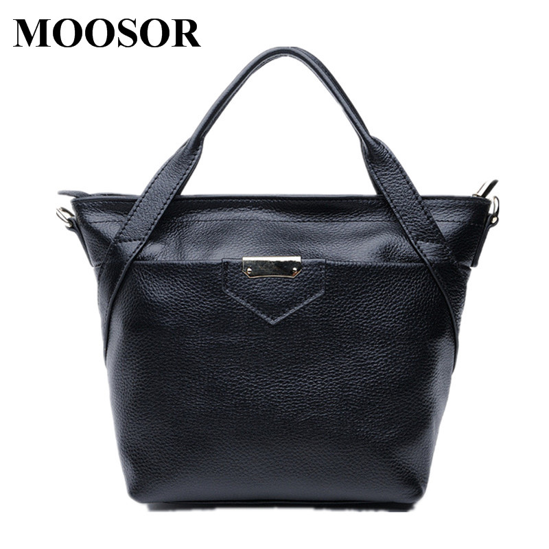 Фотография 2018 New Genuine Leather Women Bags Crossbody Bags High Quality 6 Colors Fashion Female Shoulder Bags Zipper Handbags HB17
