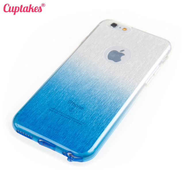 Cuptakes Soft Silicone Glitter TPU Case for iPhone 5S Cover ICE Blue Rubber  5 6 SE 6S 7 Plus Phone Cases Cute Coque film Brand c03080f77