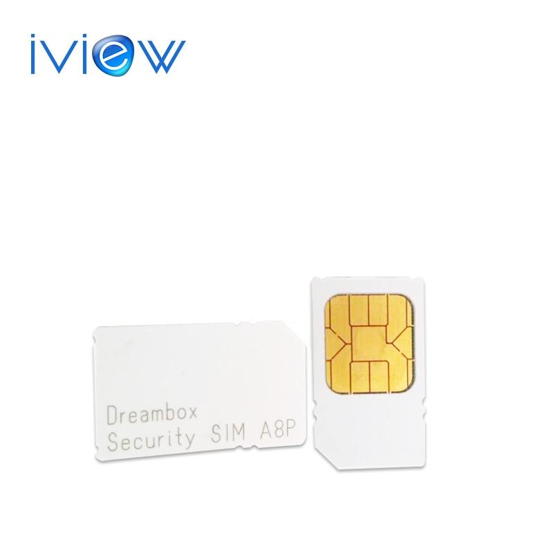1 pc free post D'origine A8P carte sim pour sunrady 800se 800hd se DVB-C câble Sécurité Sim A8P soutien D'origine logiciel pour 800SE