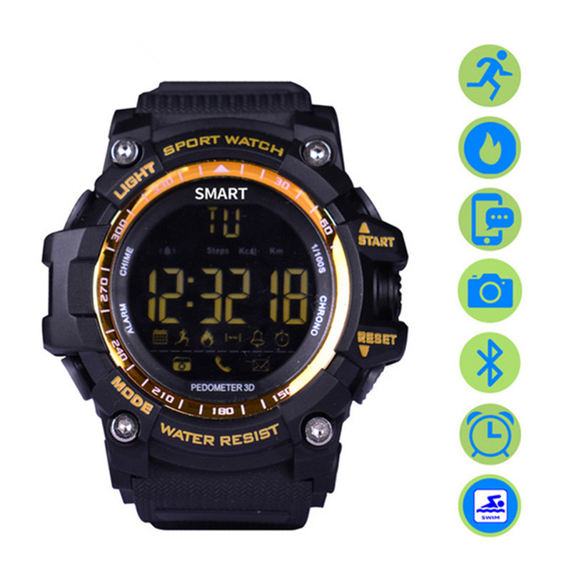 2019 New Smart Sports Watch 5ATM Waterproof Bluetooth 4.0 Compatibie Fitness Wearable with Top Craft for Android IOS Smart Watch
