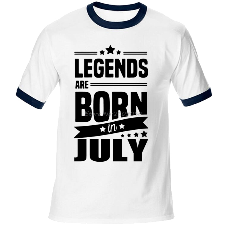 c172bf06 Aliexpress.com : Buy 2017 Legends Are Born In July t shirt Funny Birthday  Gift Design Men's Cotton O neck 3D T Shirt Cool Tops Raglan Sleeve Tees  from ...